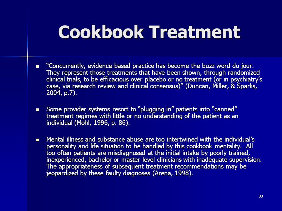 Cookbook Treatment