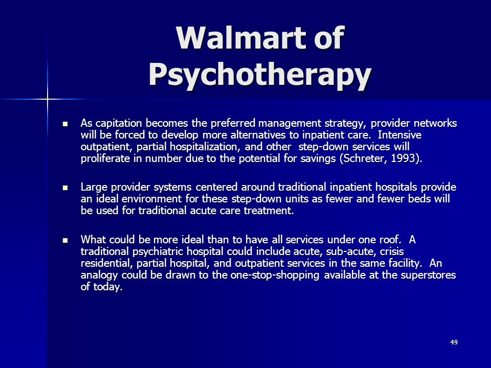 Walmart of Psychotherapy