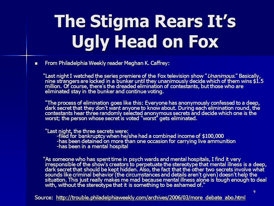 The Stigma Rears It's Ugly Head on Fox