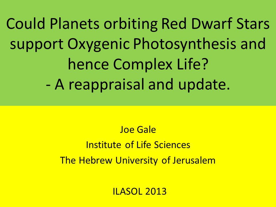 Could Planets orbiting Red Dwarf Stars support Oxygenic Photosynthesis and hence Complex Life - A reappraisal and update.