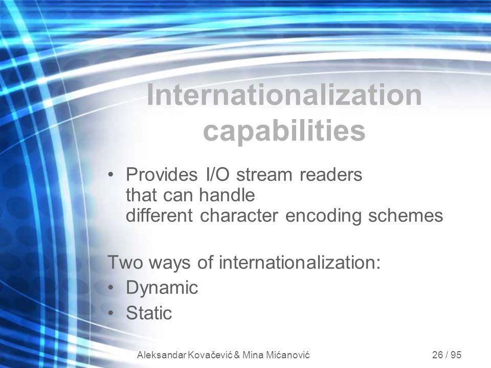 Internationalization capabilities