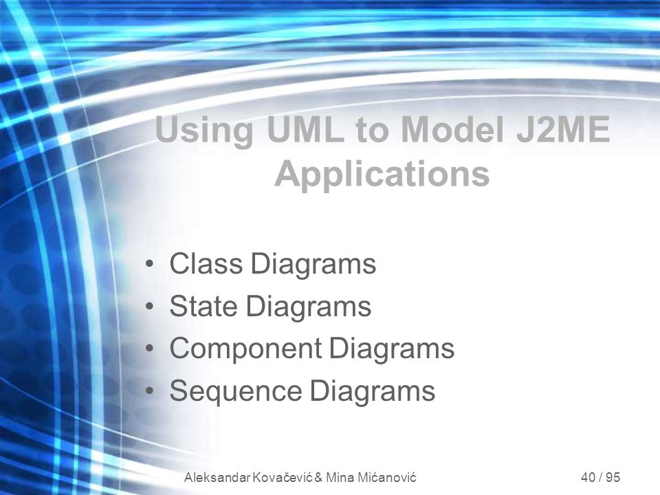 Using UML to Model J2ME Applications