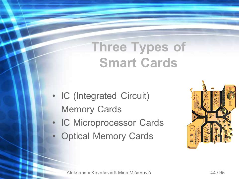 Three Types of Smart Cards