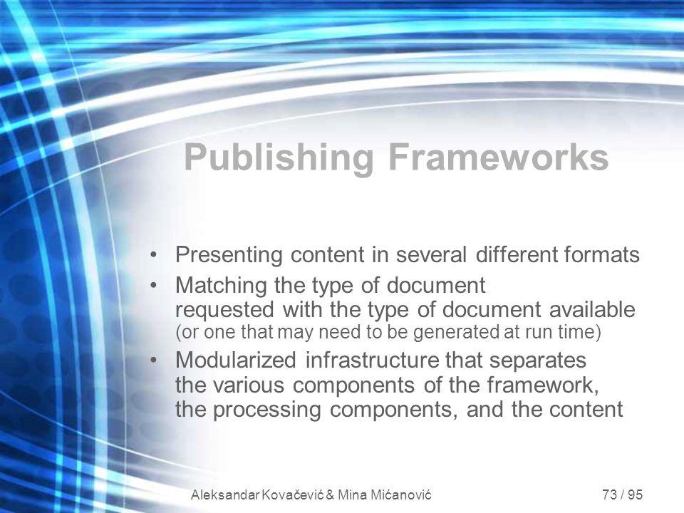 Publishing Frameworks