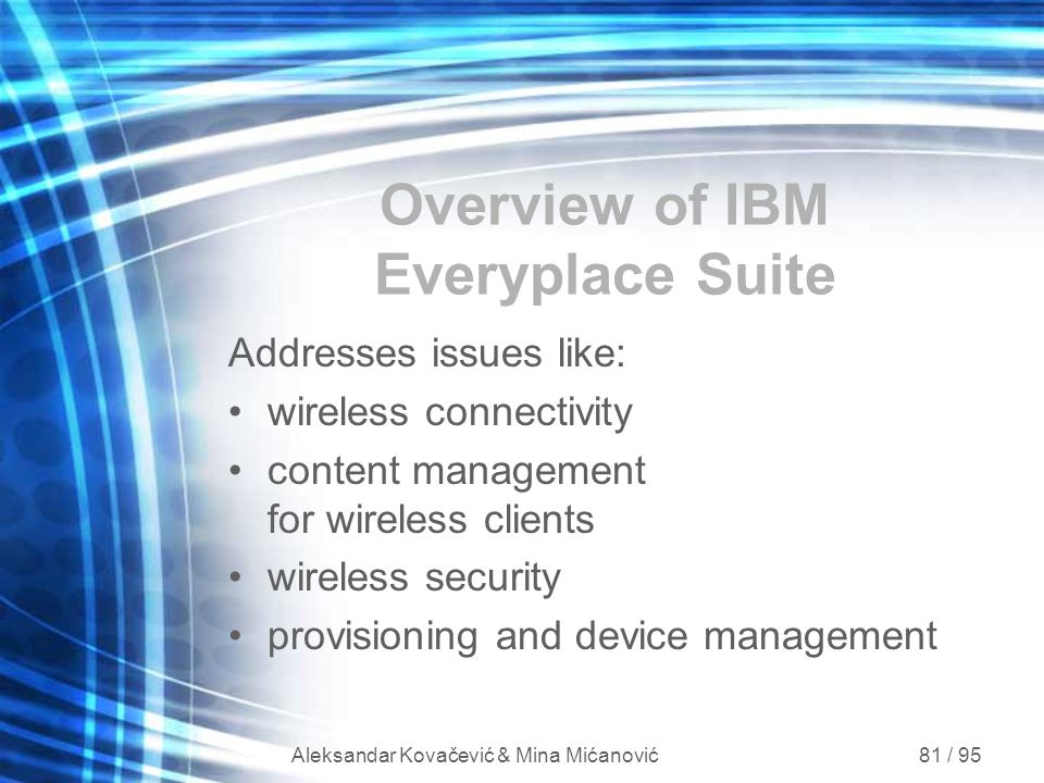 Overview of IBM Everyplace Suite