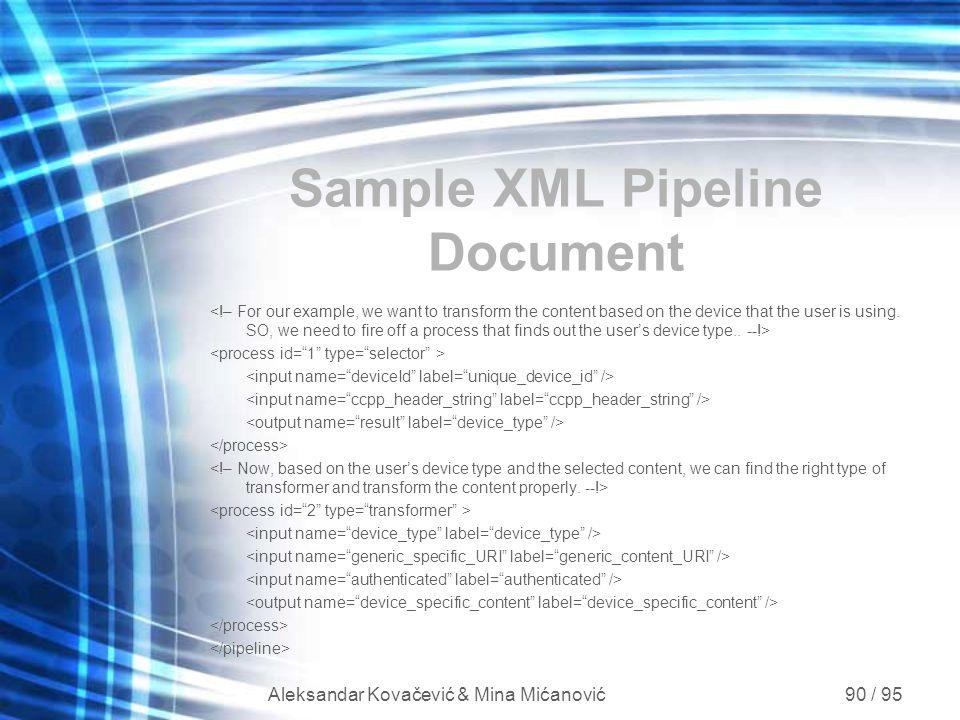 Sample XML Pipeline Document