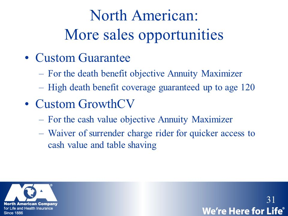 North American: More sales opportunities