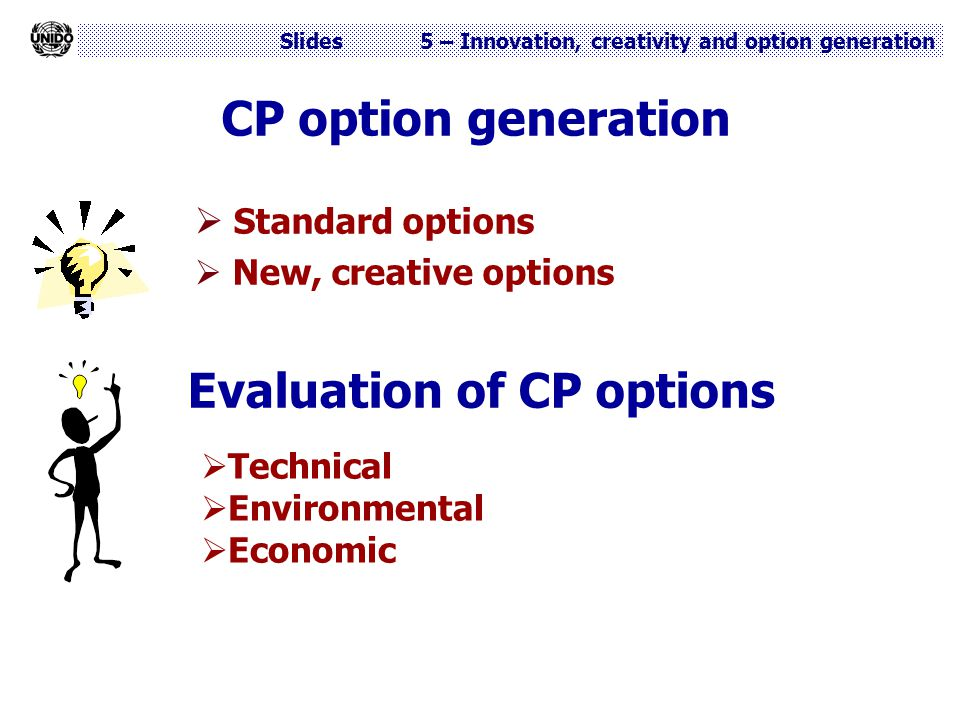 Evaluation of CP options