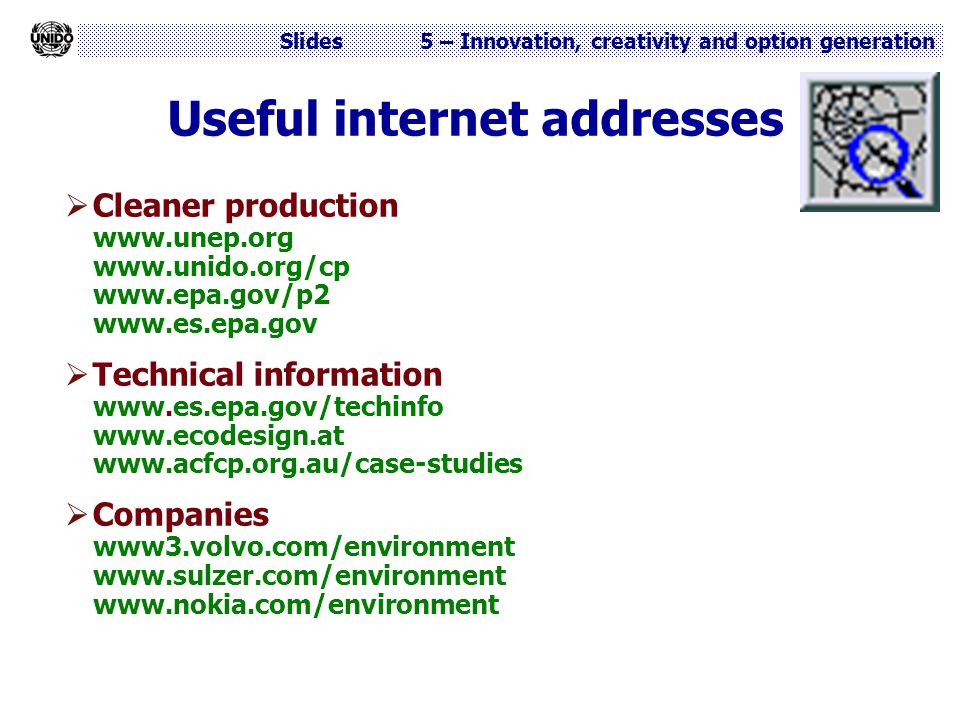 Useful internet addresses