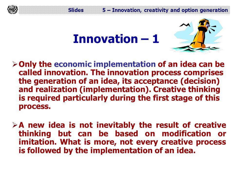 Innovation – 1