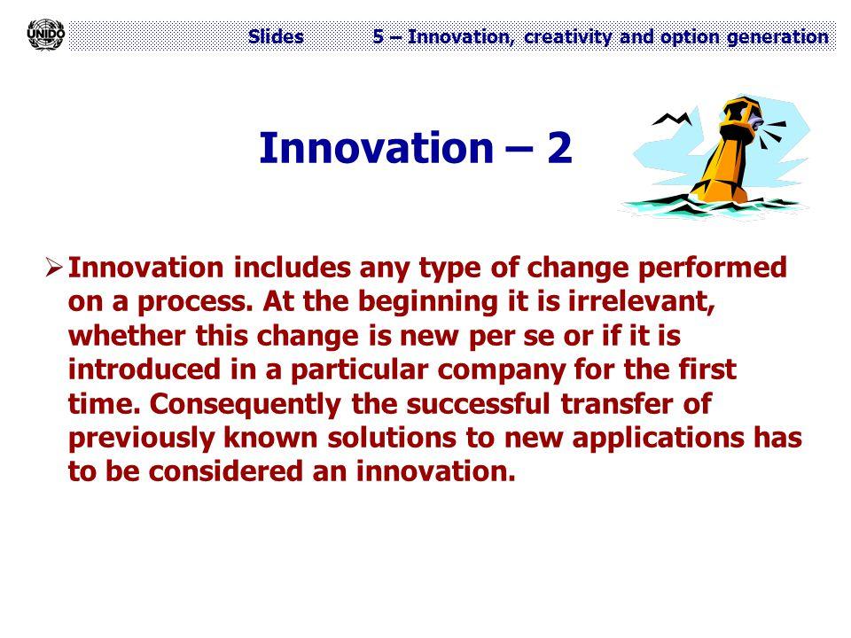 Innovation – 2