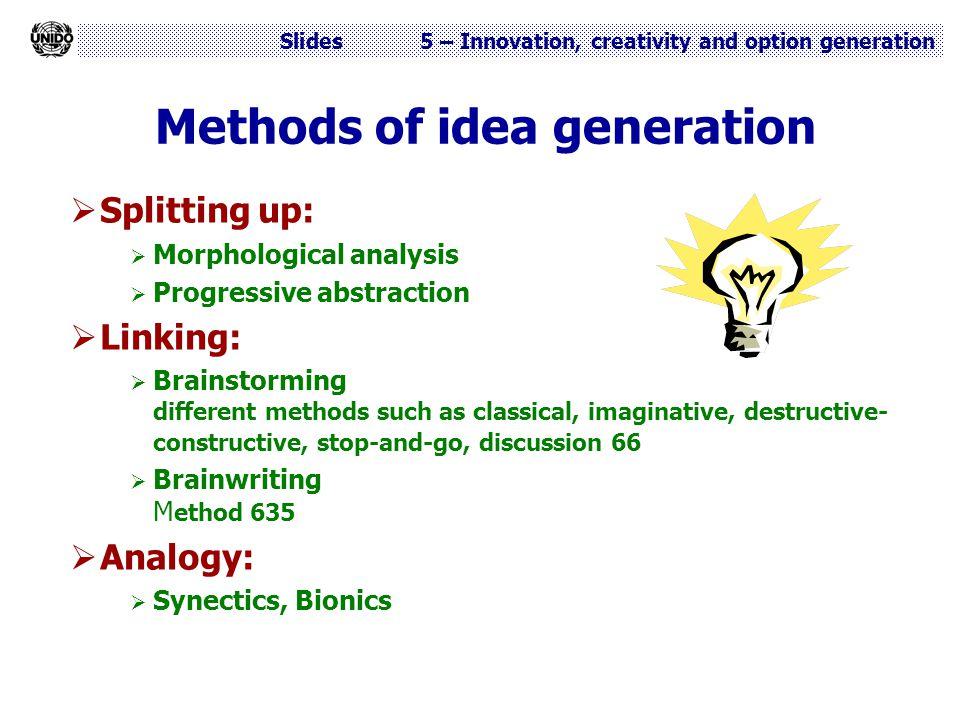 Methods of idea generation