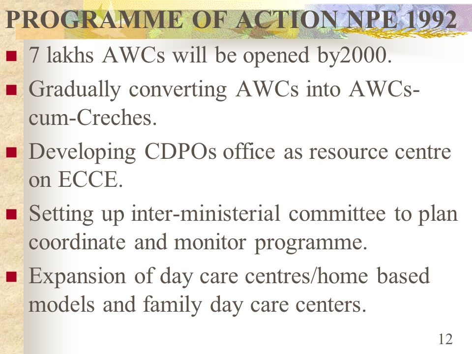 PROGRAMME OF ACTION NPE 1992