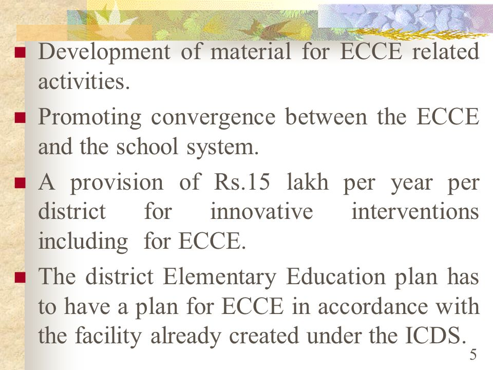 Development of material for ECCE related activities.
