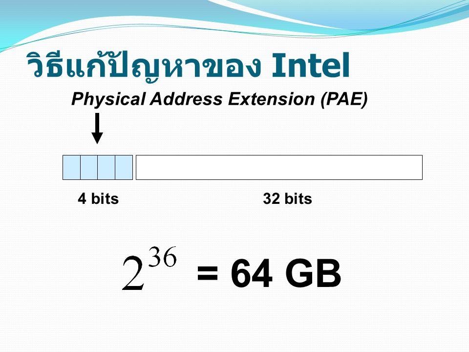 วิธีแก้ปัญหาของ Intel