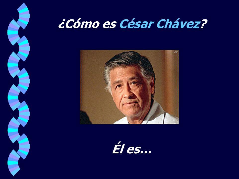 ¿Cómo es César Chávez Él es…