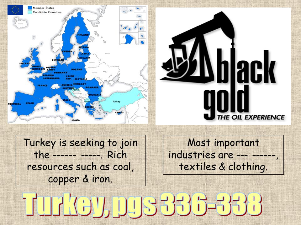 Most important industries are --- ------, textiles & clothing.
