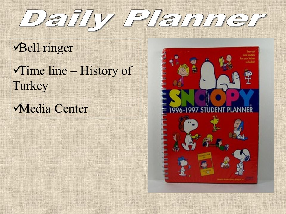 Daily Planner Bell ringer Time line – History of Turkey Media Center