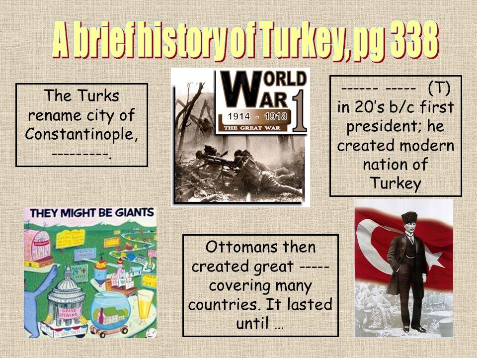 A brief history of Turkey, pg 338