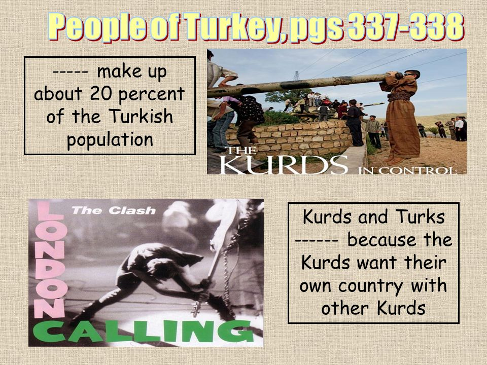 ----- make up about 20 percent of the Turkish population