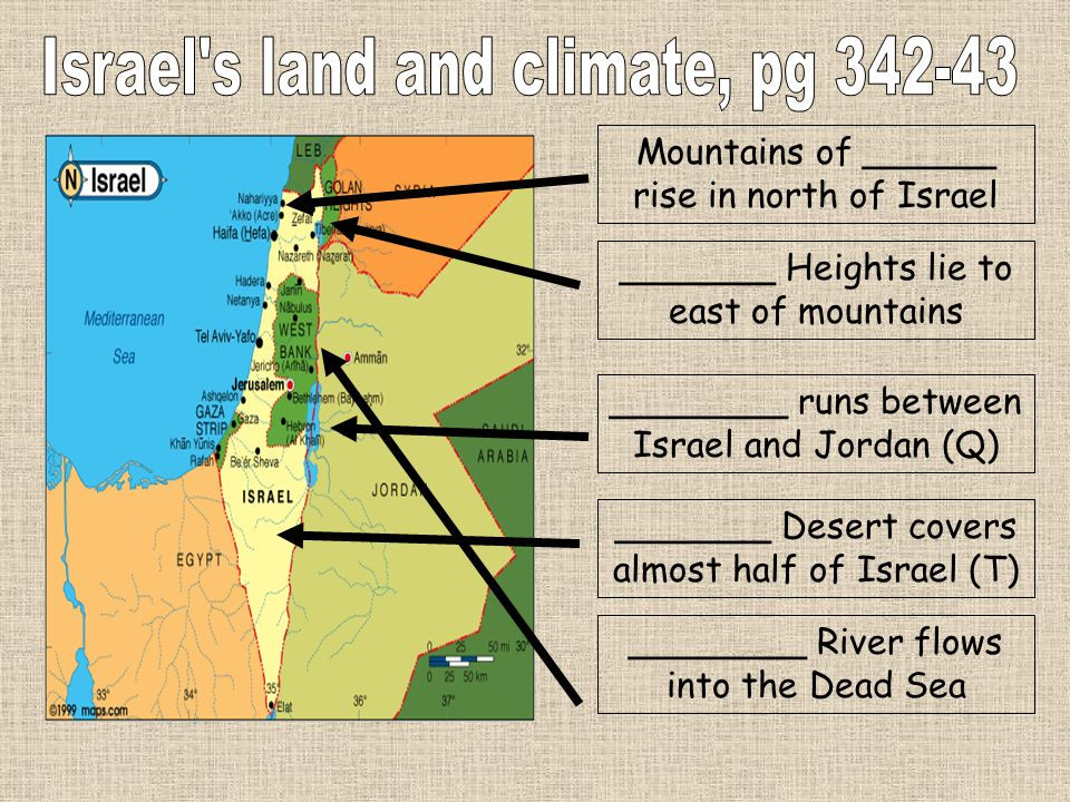 Israel s land and climate, pg