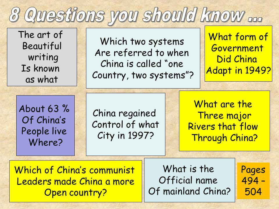 8 Questions you should know …