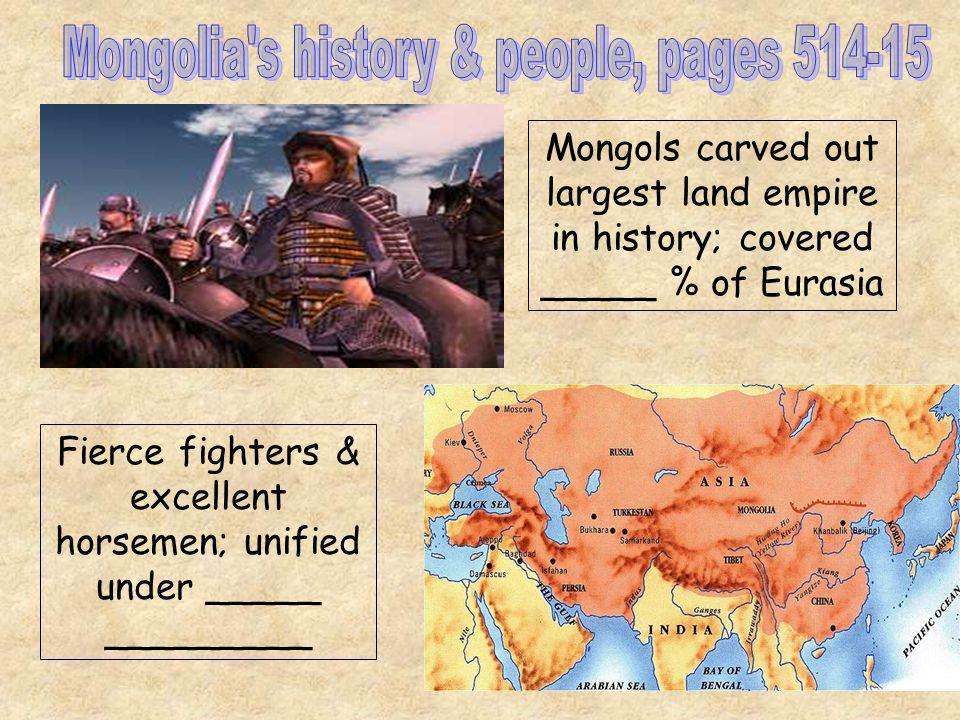 Mongolia s history & people, pages 514-15