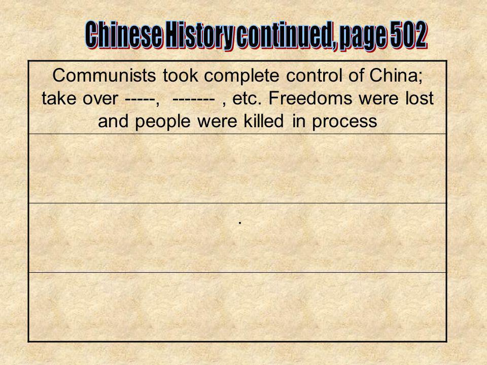Chinese History continued, page 502