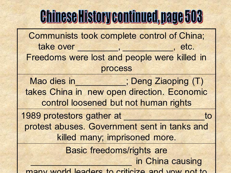 Chinese History continued, page 503