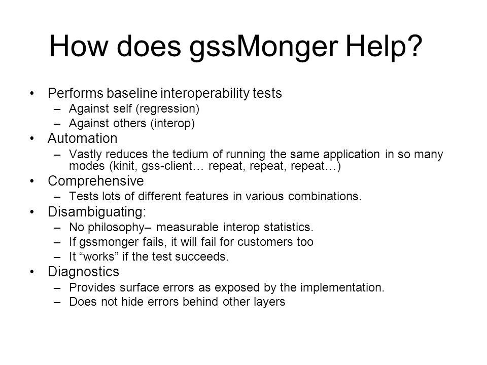 How does gssMonger Help