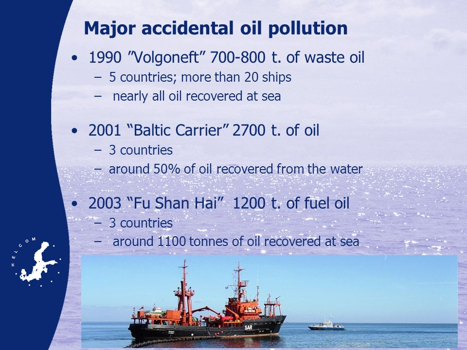 Major accidental oil pollution