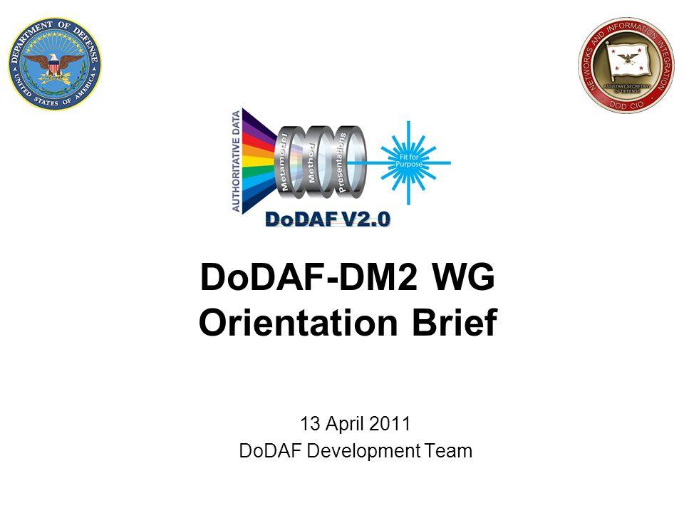 DoDAF-DM2 WG Orientation Brief