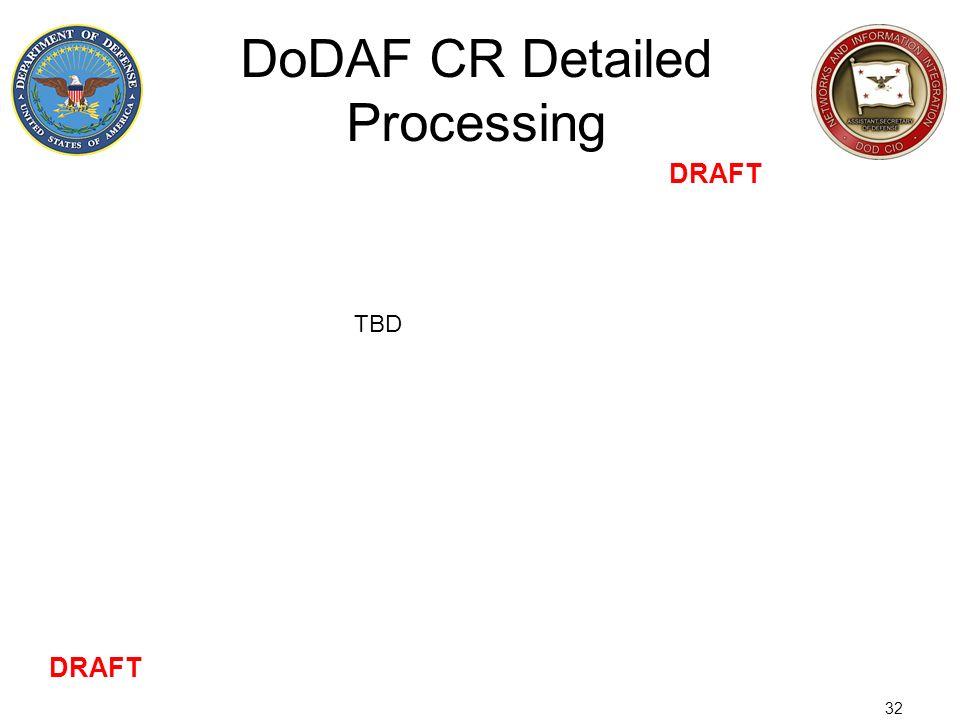 DoDAF CR Detailed Processing