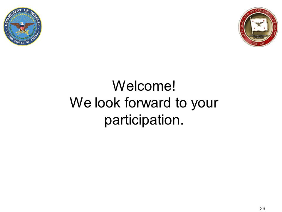 Welcome! We look forward to your participation.