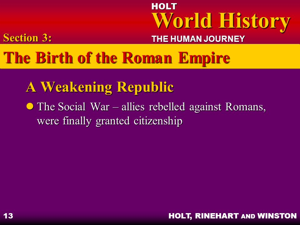 The Birth of the Roman Empire