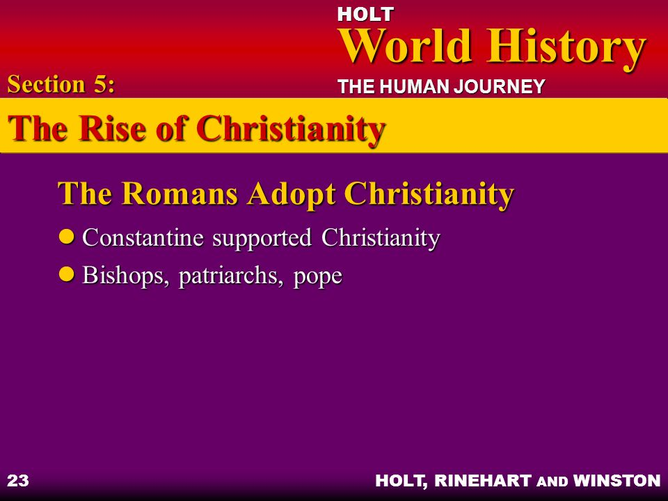 The Romans Adopt Christianity