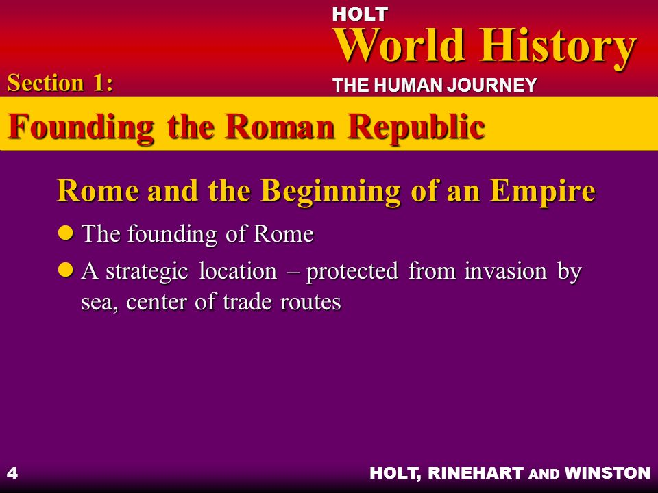 Rome and the Beginning of an Empire