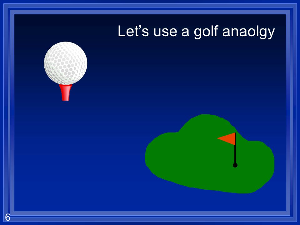 Let's use a golf anaolgy