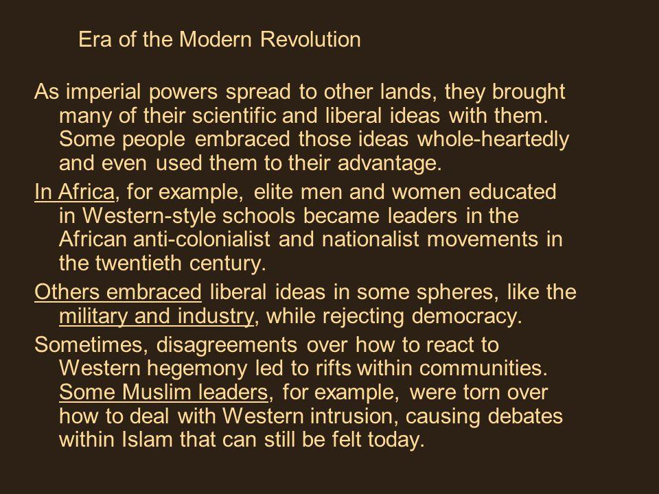 Era of the Modern Revolution