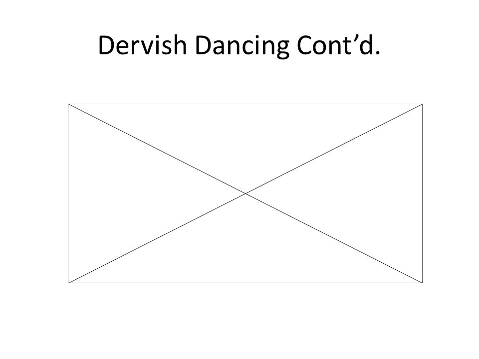 Dervish Dancing Cont'd.
