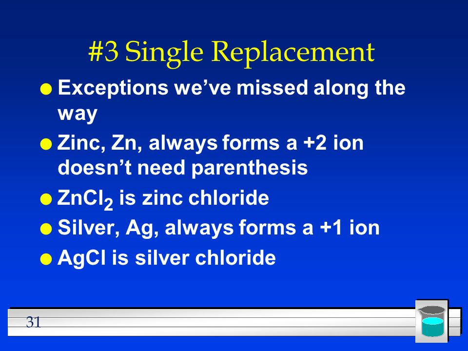 #3 Single Replacement Exceptions we've missed along the way