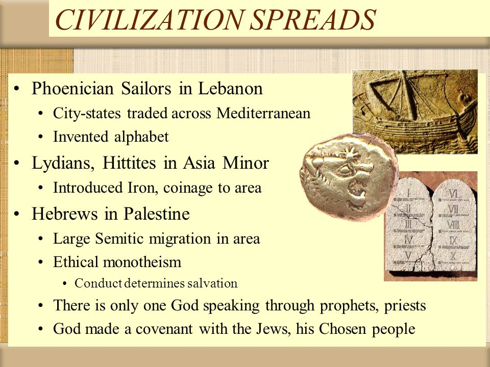 CIVILIZATION SPREADS Phoenician Sailors in Lebanon