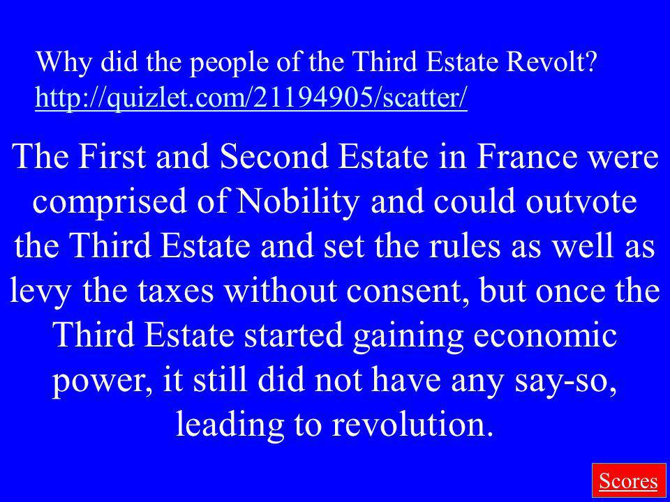 Why did the people of the Third Estate Revolt
