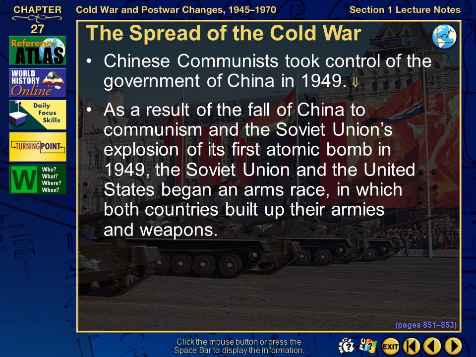 The Spread of the Cold War