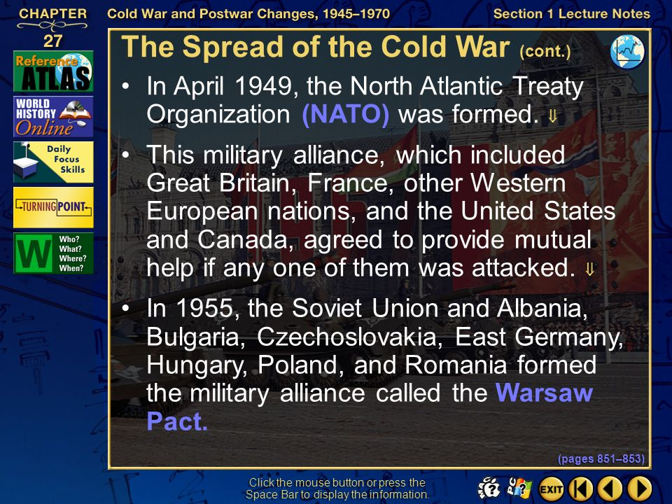 The Spread of the Cold War (cont.)