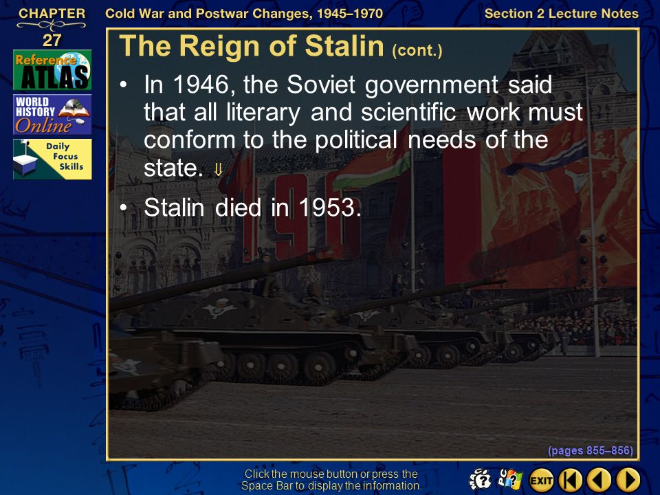 The Reign of Stalin (cont.)