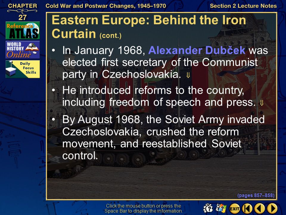 Eastern Europe: Behind the Iron Curtain (cont.)