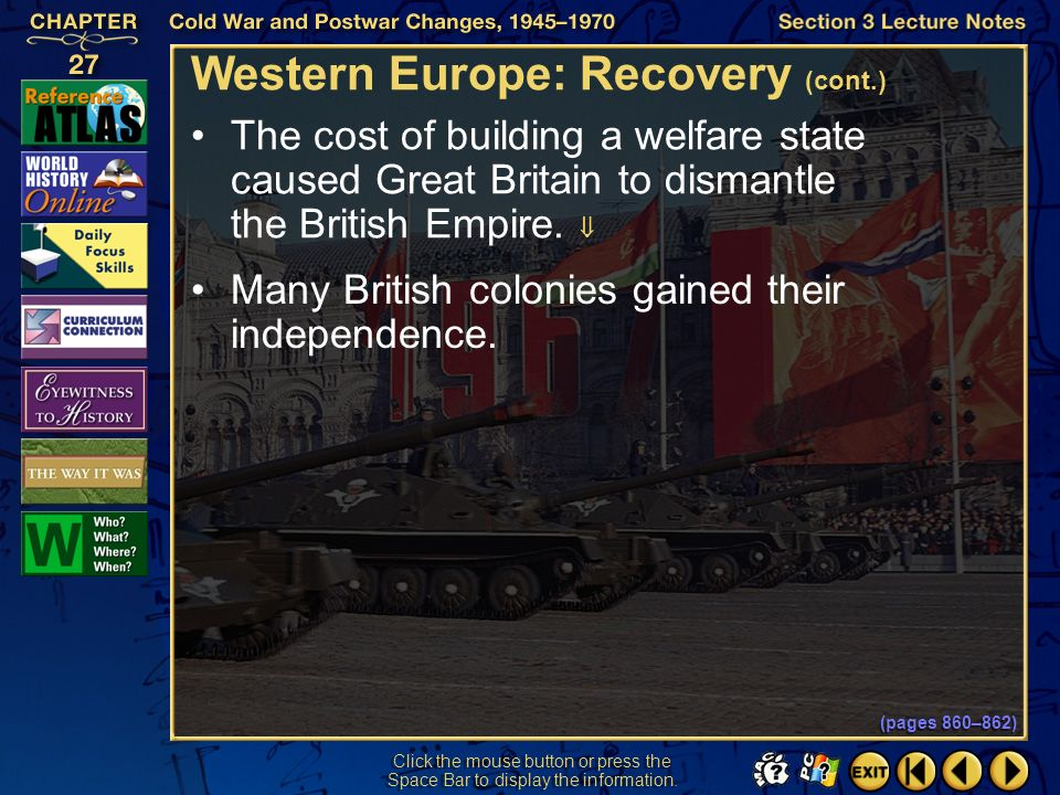 Western Europe: Recovery (cont.)