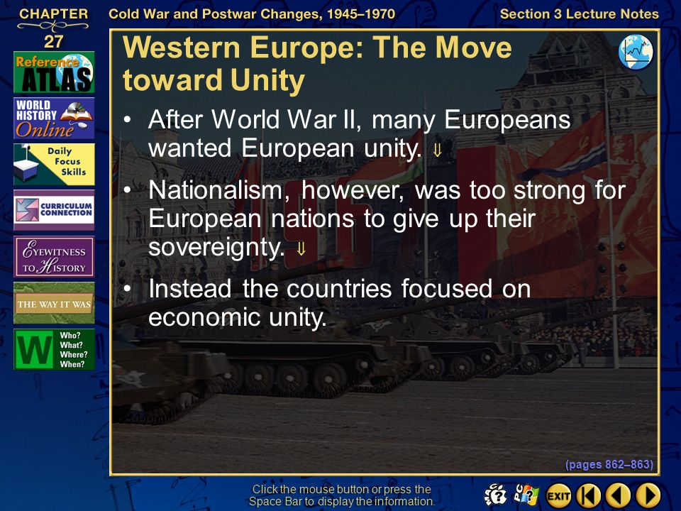 Western Europe: The Move toward Unity