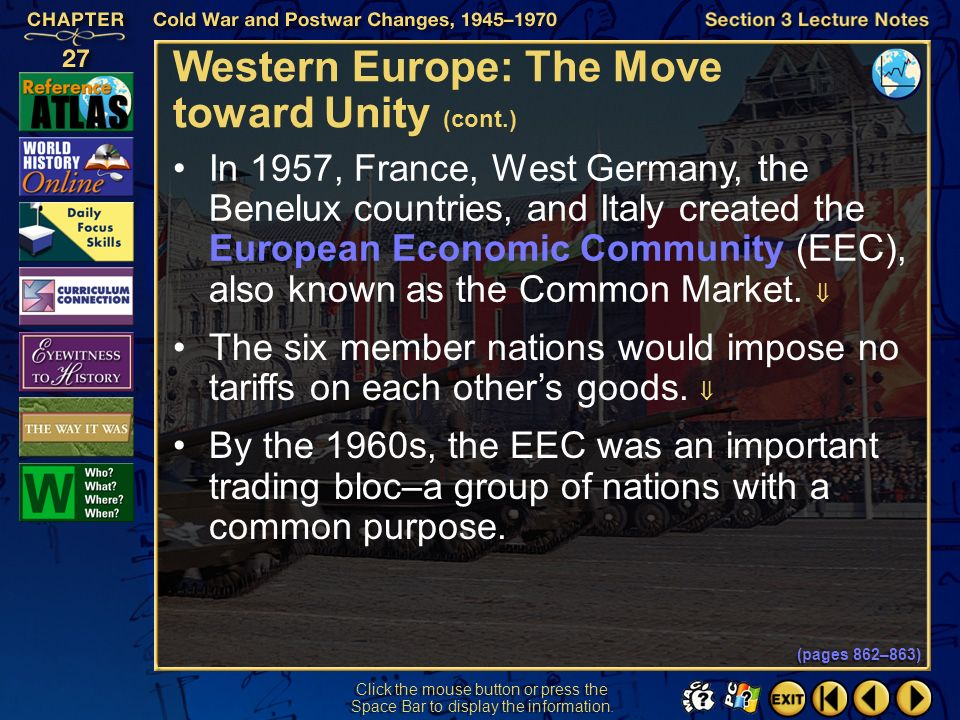 Western Europe: The Move toward Unity (cont.)